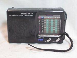 world band Model KK-9 FM TV MW SW1-7 Multi Band Receiver radio