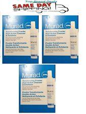 3 Packs MURAD Transforming Powder Dual-Action Cleanser & Exfoliator .043 oz/1.2g