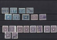 canada postage due and revenue stamps ref r13137