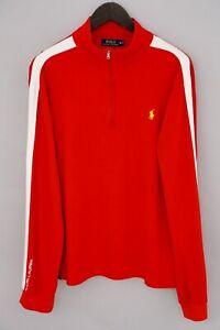 Men Polo Ralph Lauren Sweatshirt Pima Soft Touch Cotton Red XL XMX222