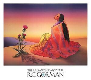 NAVAJO DAWN ART PRINT BY NAVAJO ARTIST R.C. GORMAN southwest cactus poster