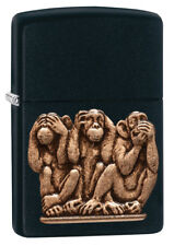 NEUHEIT 2018!! ZIPPO THE THREE WISE MONKEYS Emblem Die drei weisen Affen NEU OVP