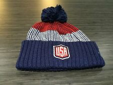 2016 World Cup of Hockey Team USA Pom Toque Beanie Cap Hat Winter Cuffed