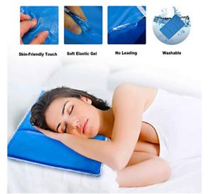Human Cooling Gel Blue Cool Pad Mat Orthopedic Mattress Toppers Cushion Bed XXL