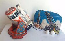 Vintage S.H. Horikawa Cragstan Atlas ICBM Space Missile battery tin toy, Japan