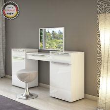 Console di bellezza e trucco di design Set cosmetico Comò con specchio bianco