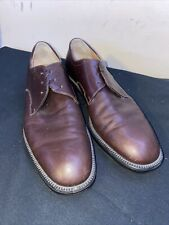Salvatore Ferragamo Men's Brown Spencer Lace Up Size 10.5