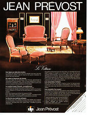 Publicité Advertising 107  1977  sièges fauteuils Voltaire Jean Prévost