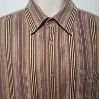Men's Bugatchi Uomo Colorful Geometric BDC Long Sleeve Shirt Size Large