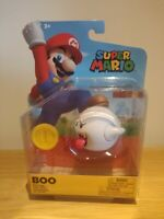 Boo With Coin Accessory New Super Mario Toy Figure Character  Nintendo Jakks NEW