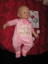 Baby Annabell Doll Coo's Drinks Cries Original Outfit New Bottle Eyes Closed