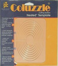 NEW - Coluzzle OVAL Clear Template Quilt Sew Scrapbook Provo Craft