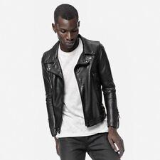 John Elliott Leather Rider Motorcycle Jacket Coat Small Medium Black x Gap New