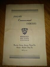 VINTAGE ROOSEVELT HIGH SCHOOL COMMENCEMENT EXERCISE BROUCHER 1942 RARE
