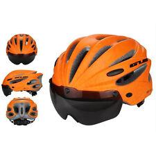 Bicycle Helmet Bike Cycling Adult Adjustable Unisex Safety Helmet with Visor Len
