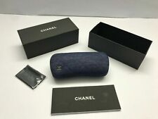 Case Blu Denim Eyeglasses Hard Sunglasses Authentic Sunglass Box Eyeglass CHANEL