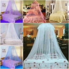 Pink Mosquito Net Canopy Travel Insect Protect Single Entry Double King Size