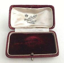 Vintage antique brooch pin Jewellery display box Morath Brothers Liverpool