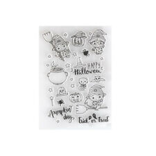 Halloween Transparent Clear Stamps for DIY Scrapbooking/Card Kids Fun Decor QW