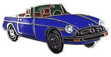 MG MGB Rubber bumper car cut out lapel pin  blue body