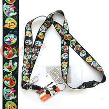 Disney Mickey Mouse Friends Lanyard KeyChain with ID Pocket