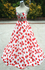 NWT PAPARAZZI by MORI LEE $398 Red / White Prom Gown 8