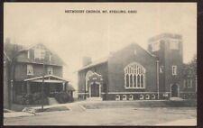Postcard MT STERLING Ohio/OH  Methodist Church & Parsonage view 1920's