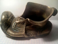 BRONZE METAL ASHTRAY rare old SHOE BOOT VINTAGE 1970 USSR RUSSIAN SOVIET NIMOR