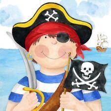 AZUL MAR pirata barco Bandera Espada Paquete de 20 servilletas papel 33cm x 33cm