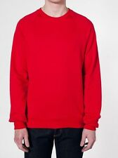 American Apparel California Fleece Raglan Pullover Sweater Red 5454 Large