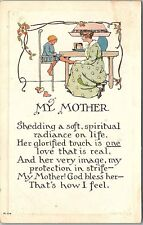 Postcard Mother's Day Woman Holding Little Boy's Foot AB43