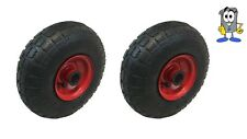"2x 10 ""pneumatico 4.10 - 4 2 Sack TRUCK wheel35mm FORO METALLO CENTRO + 30mm GRIP"