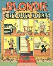 VINTAGE UNCUT 1945 BLONDIE HOUSE PAPER DOLL REPRODUCTION~LO Pr NO1 SLER FREE S&H
