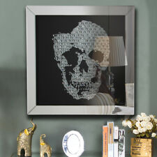 Silver Diamond Effect Glass Skull JewelGem Picture Frame Table/Wall Mirror Photo