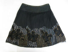 Black Gypsy / Goth Peasant - Tree of Life Skirt - Size L / 12