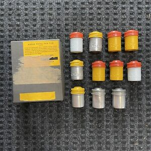 Kodak Vintage Film Canisters with Box