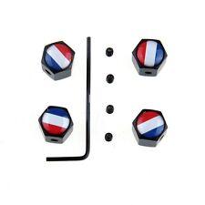 Bouchons Valve X4 pour voiture Drapeaux France bleu blanc rouge francais