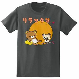 **Legit** Rilakkuma and Korilakkuma Eats Strawberries Authentic T-Shirt RK7M15
