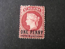 ST.HELENA, SCOTT # 12, Ip.SURCHARGE ON 6p. BROWN RED QV 1871 ISSUE MNG