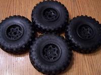 1/10 Axial Yeti Rock Racer BF Goodrich Krawler Tires & 12mm Beadlock 2.2 Wheels