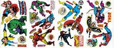 CLASSIC MARVEL SUPERHEROES wall stickers 32 decals Iron Man Hulk Capt America