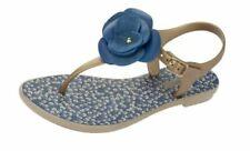 Calzado de mujer sandalias con tiras azules de sintético
