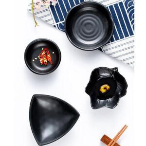 Kitchen Seasoning Spice Black Dish Flavored Vinegar Sauce Snack Condiment Plate