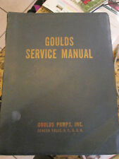 Goulds Service Manual Goulds Water Well Pumps, 1952 lot S