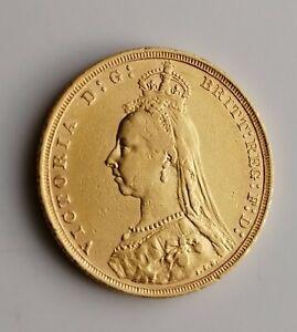 1891 Full Gold Sovereign  S   Victoria Jubilee Head Sydney Mint