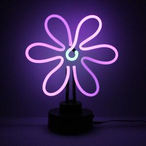 Real Handmade Neon Spring FLOWER Conservatory Desk Bedside Table Reading Lamp