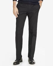 NEW EXPRESS BLACK CLASSIC PRODUCER STRETCH COTTON DRESS PANT SZ 36/32