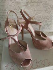 sandali camoscio rosa tacco a spillo