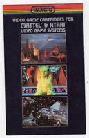 Imagic Video Game Cartridge Catalog for Mattel and Atari Video Game Systems-1982