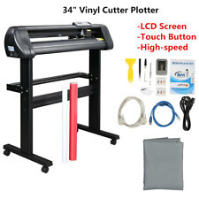 34 Vinyl Cutter Plotter Sign Cutting Machine With Software 6 Blades Lcd Screen